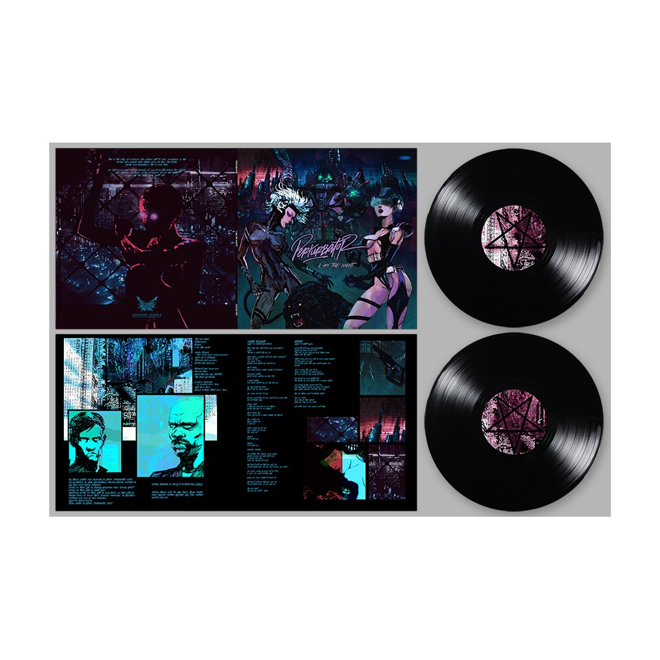 "Perturbator ""I Am the Night"" BLACK 2xLP"