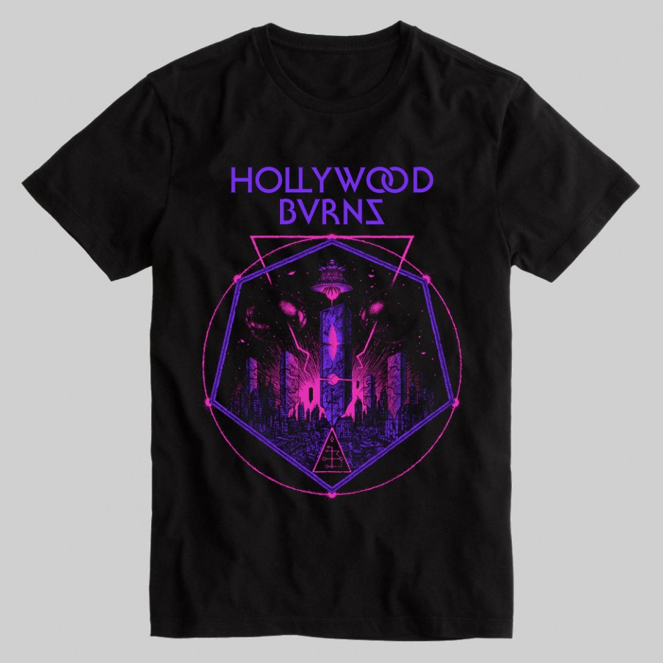 """Hollywood Burns """"The Age Of The Saucers"""" T-shirt"""