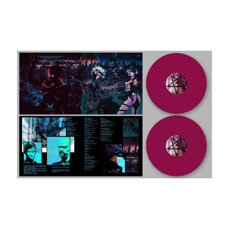 "Perturbator ""I Am the Night"" 2xLP - Purple"