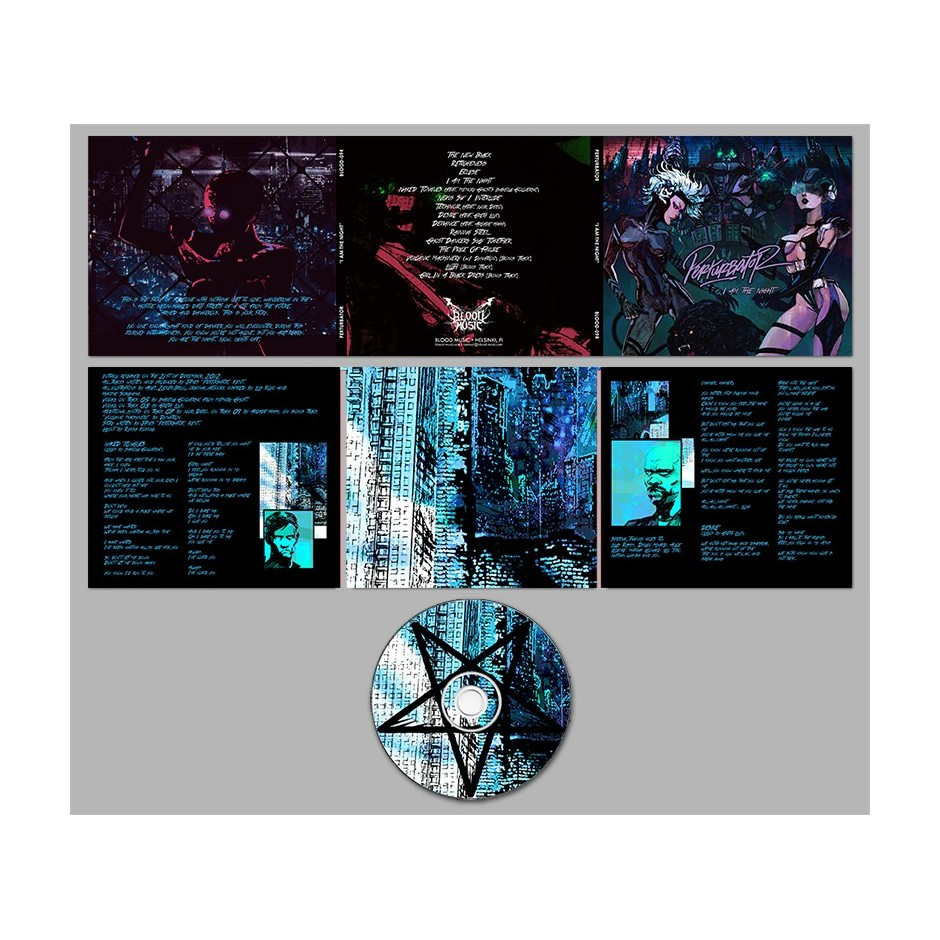 "Perturbator ""I Am the Night"" CD"