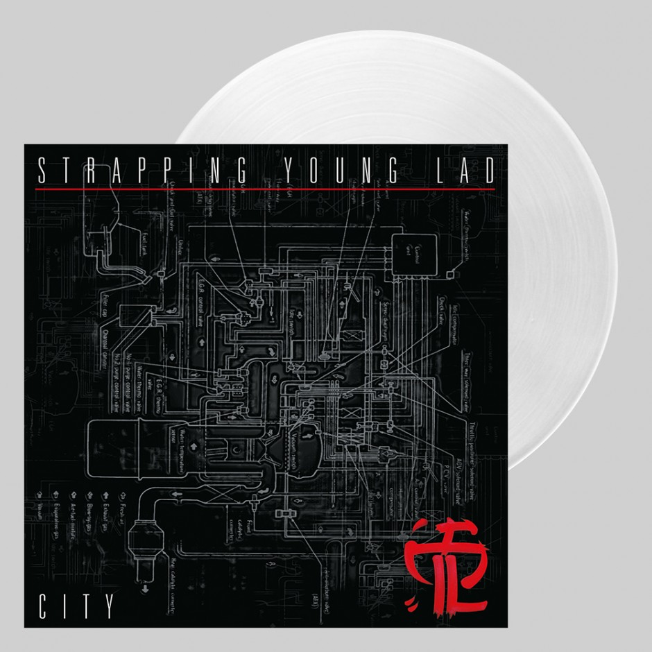 "Strapping Young Lad ""City"" BLACK LP REPRESS"