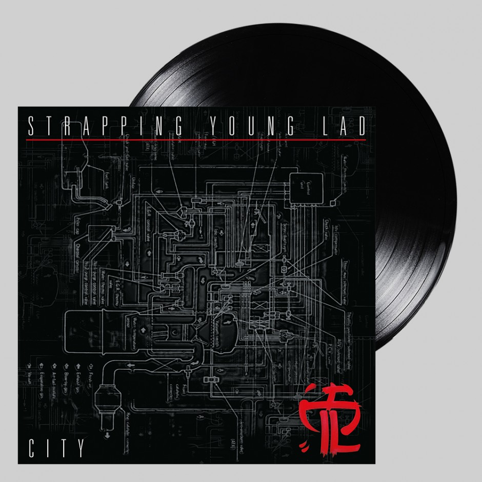 """Strapping Young Lad """"City"""" BLACK LP REPRESS"""